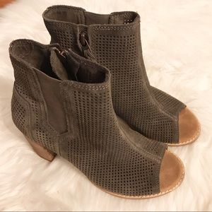 TOMS peep toe booties